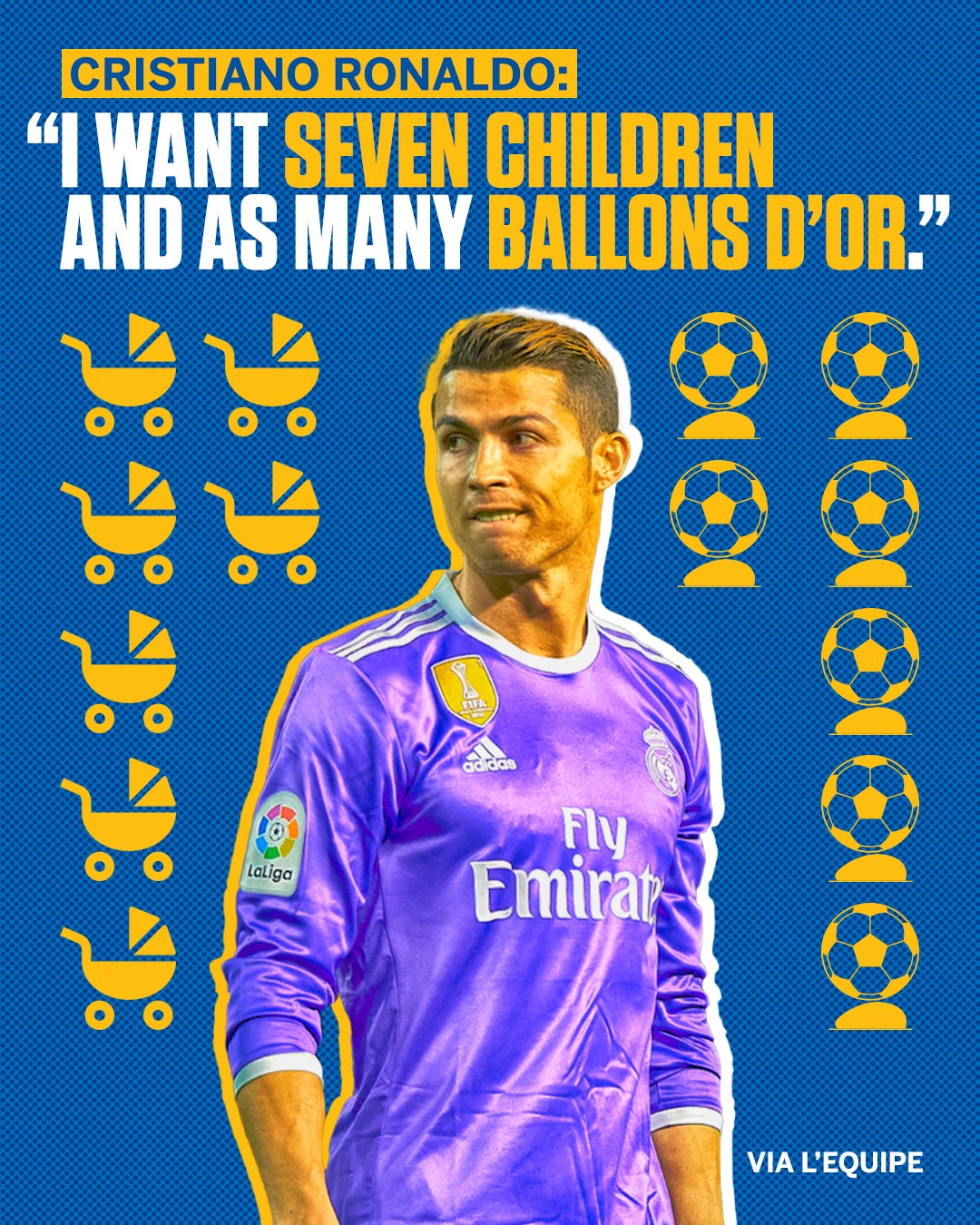 Ronaldo had this to say after the birth of his fourth child, a daughter named Alana Martina. https://t.co/BiYCqzPmdf