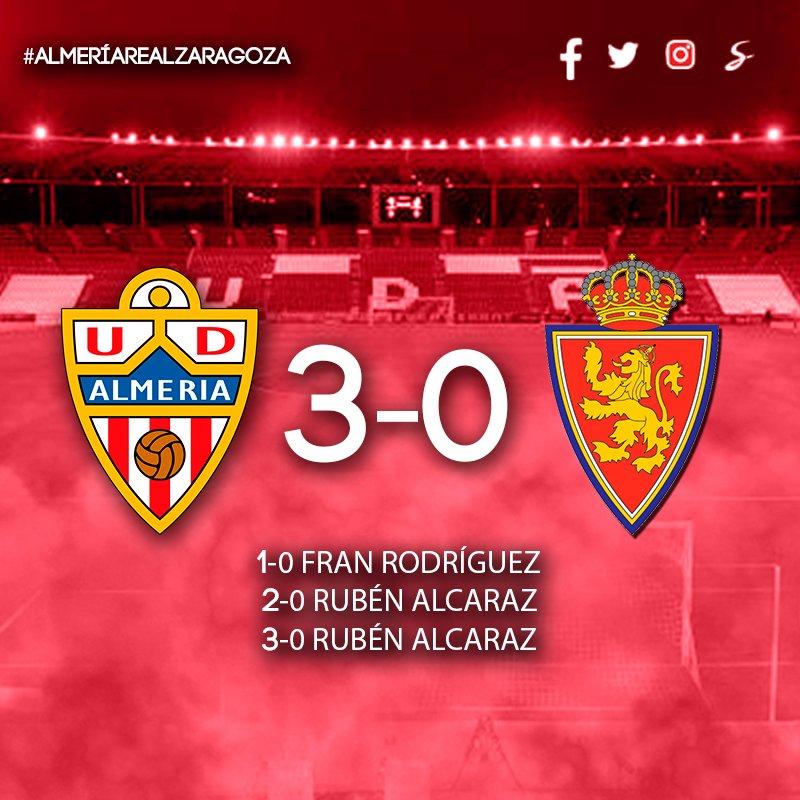 ¡VICTORIA! UD Almería 3-0 @RealZaragozaGolazos de @franrodriguez22 y Rubén Alcaraz (2) #vamosalmería