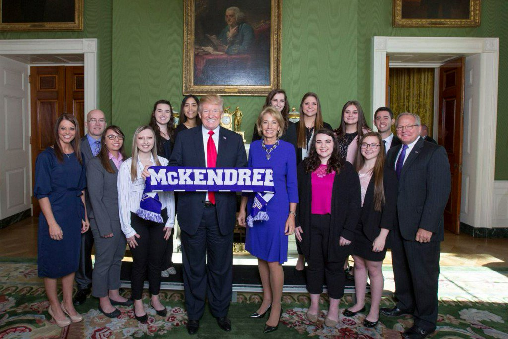 McKendree University women's bowling team honored at White House