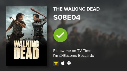 test Twitter Media - I've just watched episode S08E04 of The Walking Dead! #TWD  #tvtime https://t.co/8tdzWhBWD0 https://t.co/U92YvyqBl4