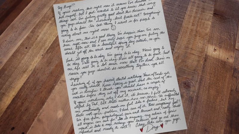 Suicide Note Surprisingly Upbeat https://t.co/WFFcO5ZFc2 https://t.co/yoFx35aIDf