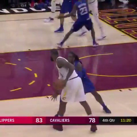 LeBron's monster performance (39 PTS, 14 REBS, 6 ASTS) leads the @cavs to their 4th consecutive win! #AllForOne https://t.co/b0plX8C9Sr
