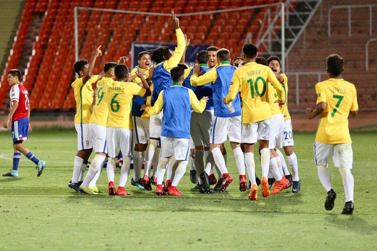 Brasil vence Paraguai por 2 a 1 e vai à decisão do Sul-Americano Sub-15