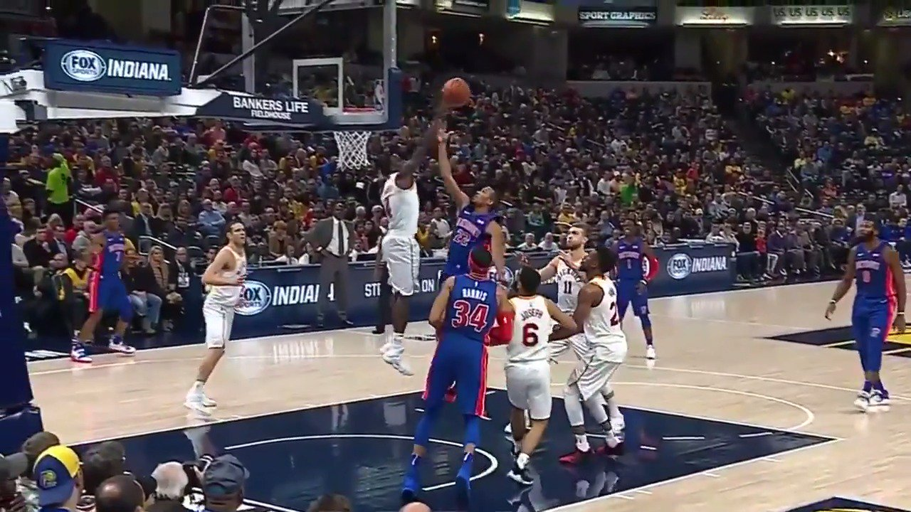 Oladipo skies for the rejection! #Pacers https://t.co/MnfJXsltKx