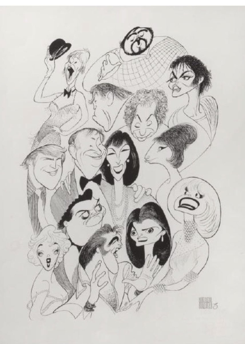 Hirschfeld caricature of POTUS (and others) back in 1988