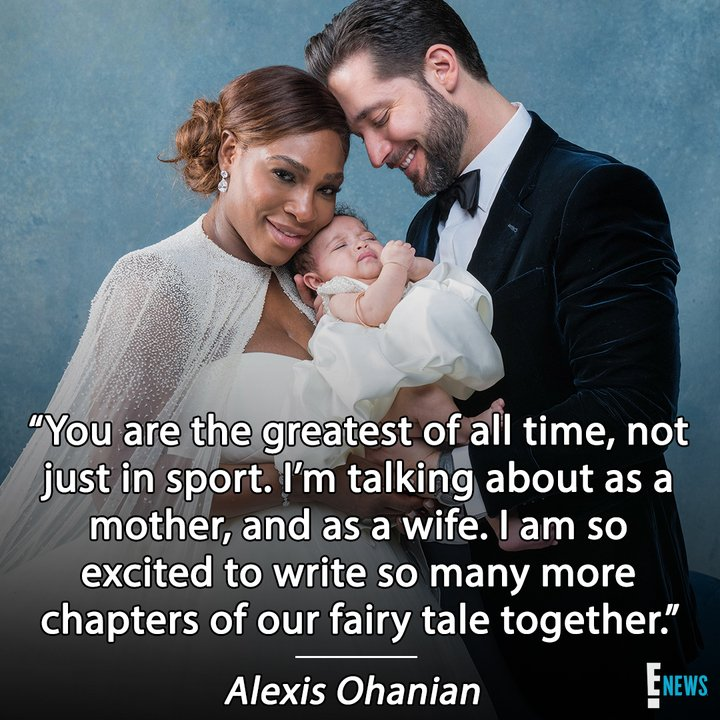 Serena Williams may have 23 Grand Slam titles, but her newest title is WIFE. ?
