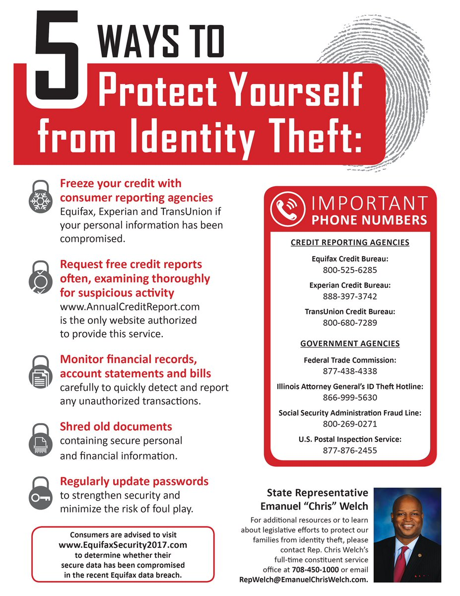 test Twitter Media - If you missed tonight's Cyber Security and Consumer Protection Seminar, here are 5 ways to Protect Yourself from Identity Theft! https://t.co/or3diytPun