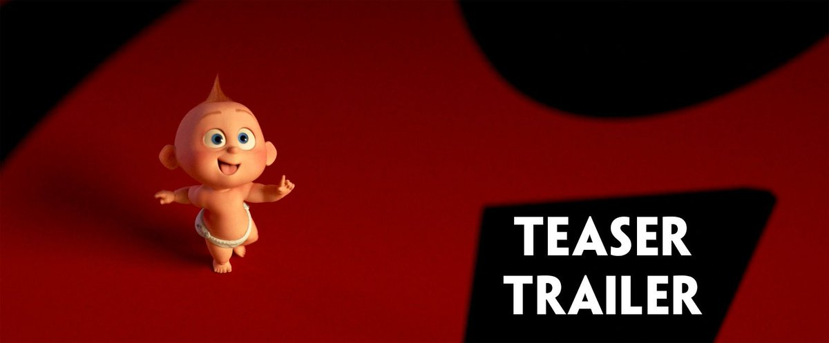 RT @FiImFeed: INCREDIBLES 2 TEASER TRAILER https://t.co/90MdmNq3A5