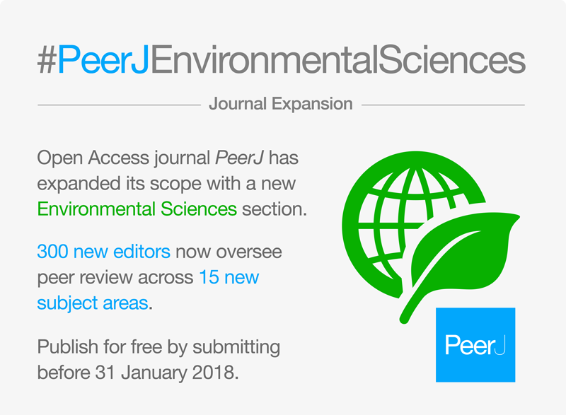 test Twitter Media - We have expanded the PeerJ journal to include 15 subject areas in Environmental Sciences (+ full fee waiver until 31 January). More details here: https://t.co/7BxUi1yNxK https://t.co/QyDgsFsvZR