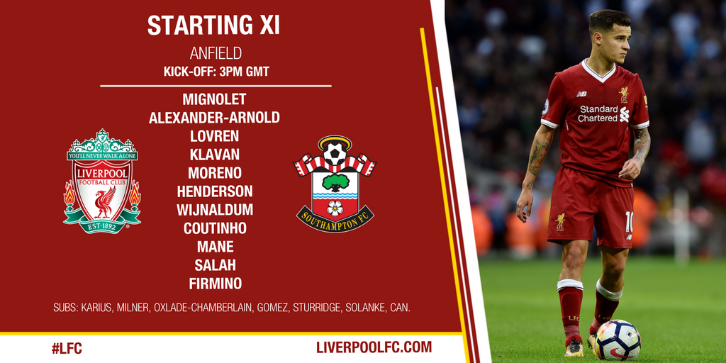�� Our team to face @SouthamptonFC... https://t.co/Jj1KNhBczt