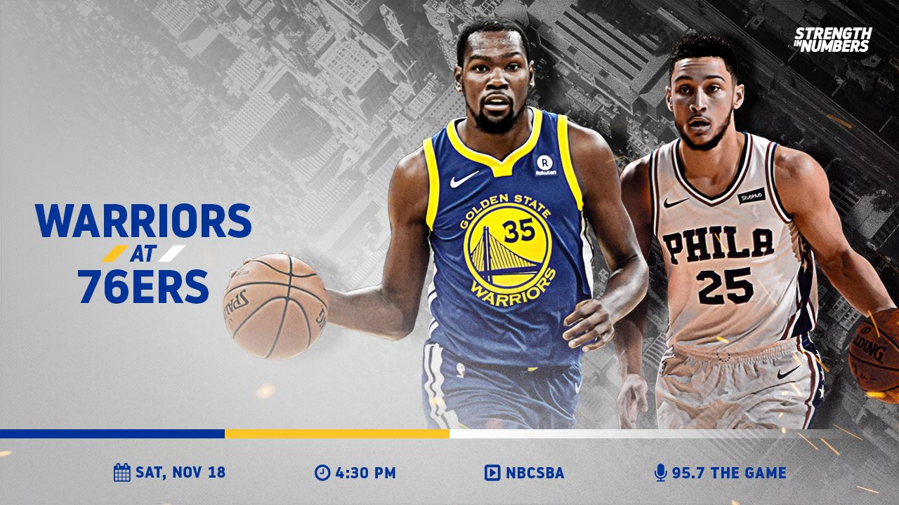 IT'S GAME DAY! The Dubs' East Coast road trip continues in Philly against the @Sixers » https://t.co/DEUxDgwVEZ https://t.co/S0DtrUE67v