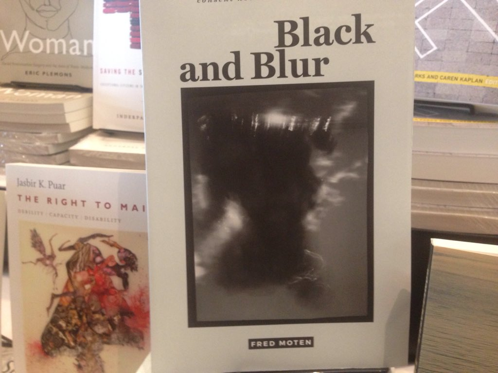 test Twitter Media - Fred Moten's Black and Blur is back in stock!  Stop by our booth.  #NWSA2017 https://t.co/NqCH3Ns0ay