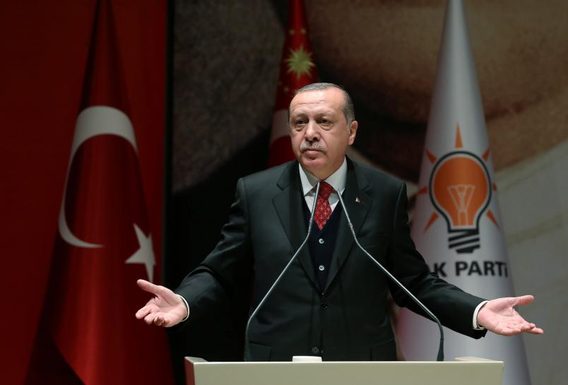 Turkey's Erdogan rebuffs NATO apology over 'enemy poster'