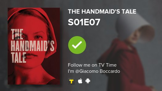 test Twitter Media - I've just watched episode S01E07 of The Handmaid's T...! #handmaidstale  #tvtime https://t.co/xdmi0T799c https://t.co/fm8NSnjwJn