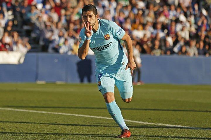 @BroadcastImagem: Com dois gols de Suárez, Barcelona vence Leganes por 3 a 0 no Espanhol. Francisco Seco/AP