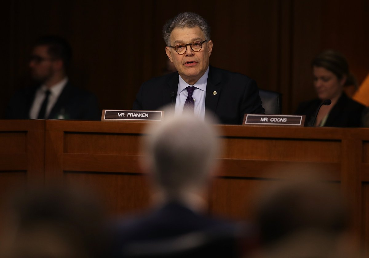 "Al Franken's reaction to Trump's ""Access Hollywood"" tape scrutinized"