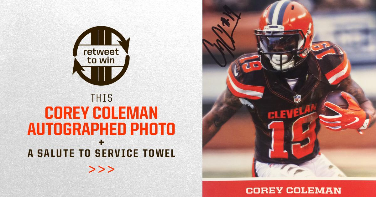 �� RETWEET for a chance to win this signed Corey Coleman photo! ��  Rules: https://t.co/yhoBb0v1rW  #SaluteToService https://t.co/28SHQ2fBGI
