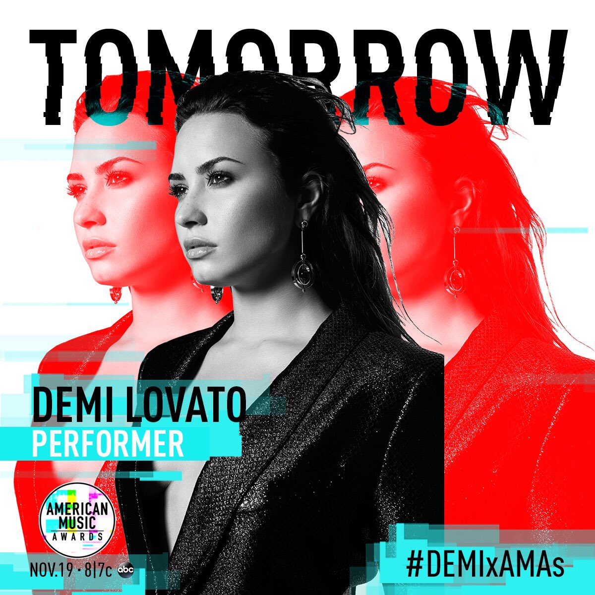Tomorrow. 8pm ET. @AMAs. You ready?? #SORRYNOTSORRY #DEMIxAMAs https://t.co/ADWmJKbtTr