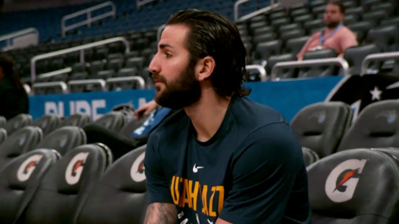 Ricky Rubio returns to the @utahjazz' starting lineup tonight on #NBA League Pass! #TakeNote  #PhantomCam https://t.co/xdt5XCtYWx