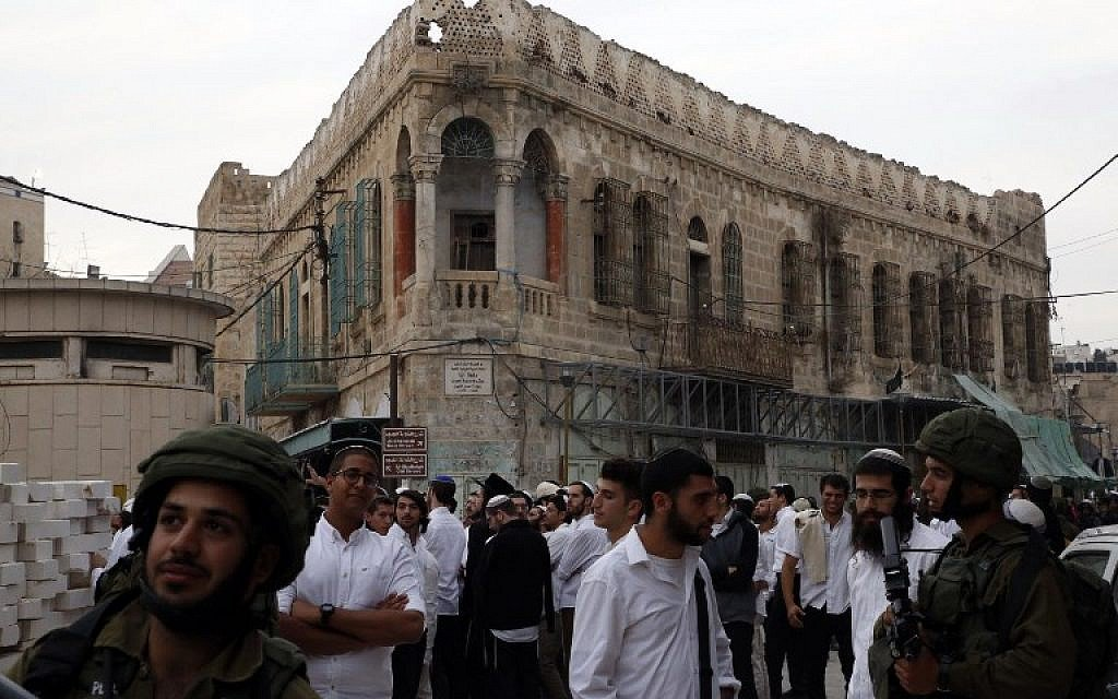 3 detained for attacking police, Palestinians at protest over ramming attack