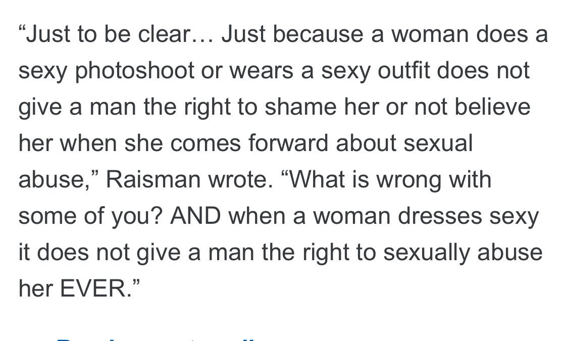 RT @heykim: #MeToo- @Aly_Raisman is responding to those who blame sexual assault victims. https://t.co/B7t4XzzHjZ https://t.co/a1RD2H57eH
