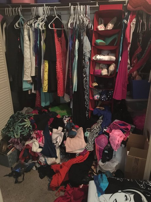Haaaalp my Porn closet exploded! I think it's slowly coming for me! It wants to consume meeee https://t