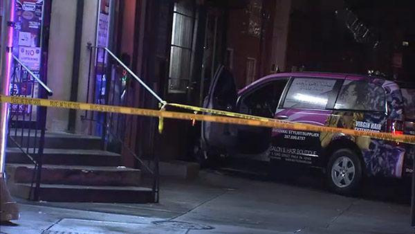 Man shot and killed, crashes van into West Philadelphia salon