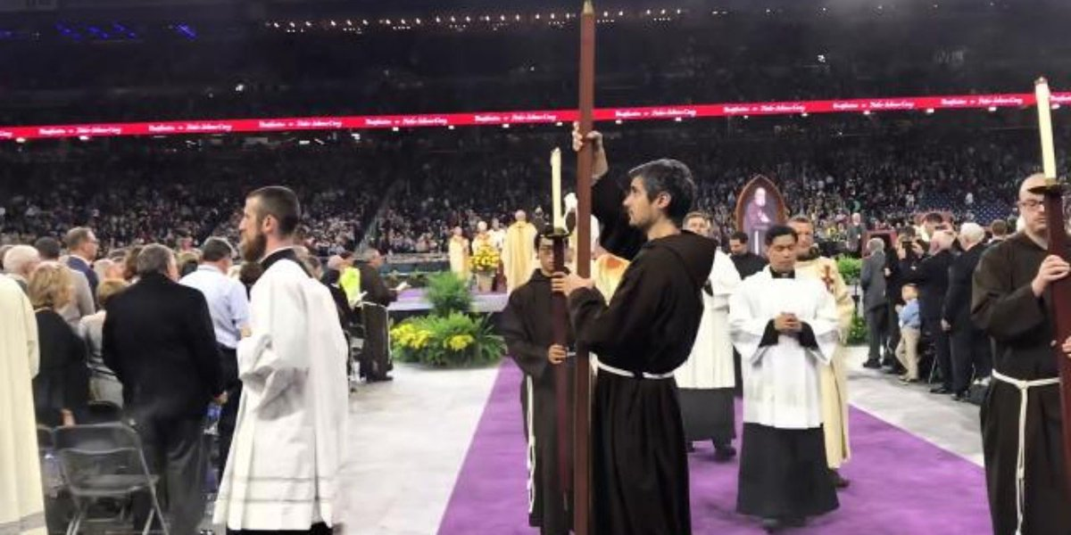 Father Solanus Casey beatification: Watch the clergy procession