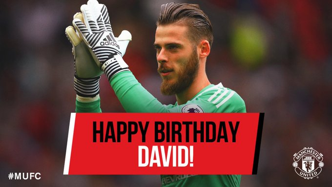 Remessageed Manchester United ( Happy 27th Birthday, David de Gea!