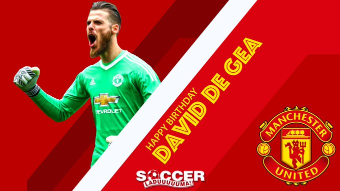 Happy Birthday to Manchester United s number one stopper, David De Gea. The Spanish goalkeeper is 27 today