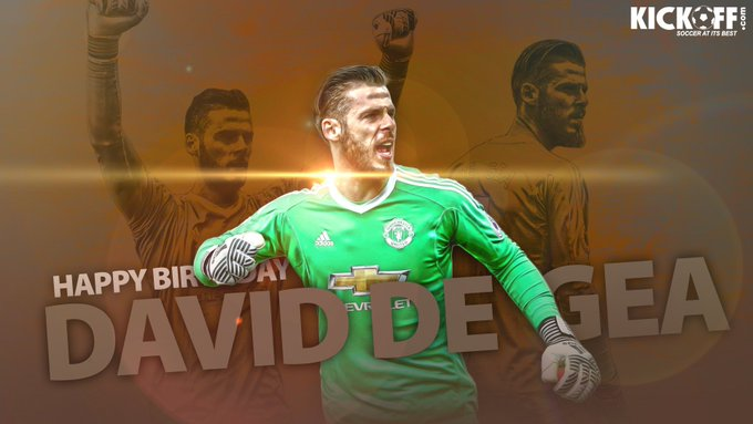 Join us in wishing one of the best goalkeepers in the world, David De Gea, a Happy 27th Birthday.