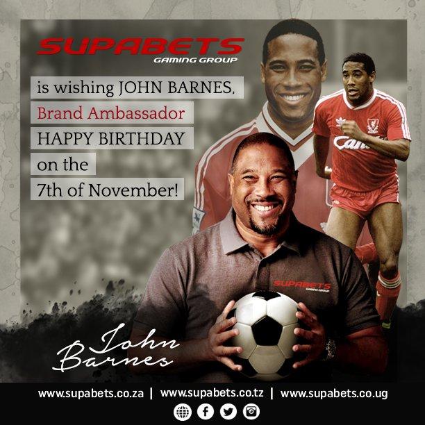A SUPA happy birthday to our Brand Ambassador, Mr John Barnes.
