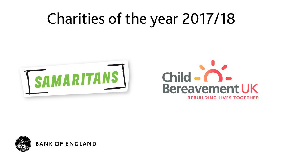 Excited to announce that our charities of the year 2017/18 are @Samaritans and @CBUKhelp. #CharityTuesday https://t.co/zLulxtWx3H