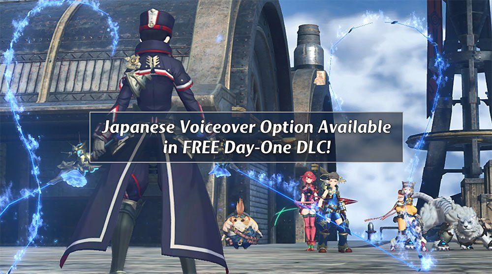 A Japanese voiceover option for #XenobladeChronicles2 will be available as free DLC on launch day, 12/1. https://t.co/c94rCrBmBz