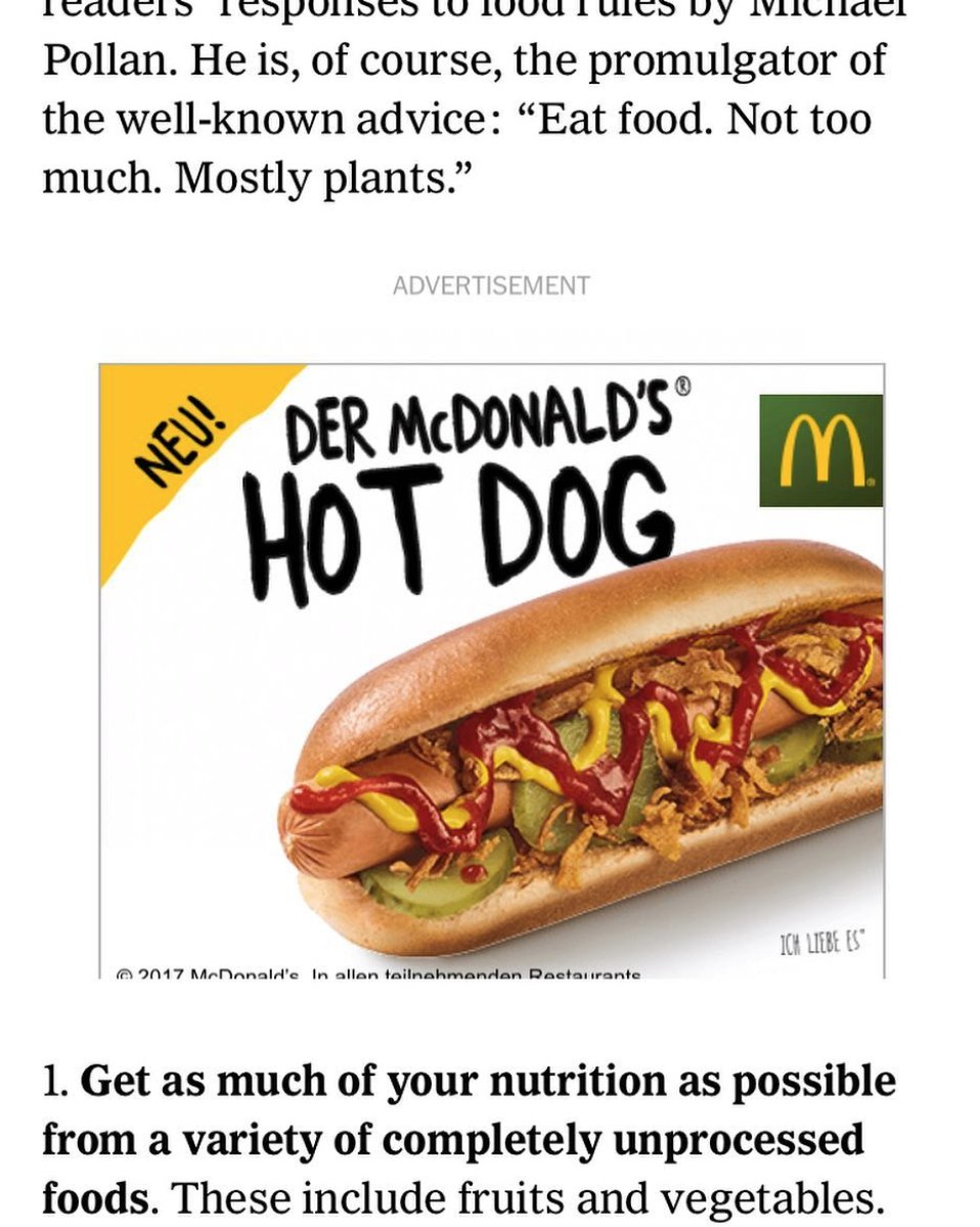 Ad in nytimes article about healthy eating. #neu! #ad #germany https://t.co/Tt1unKgMij https://t.co/jY6ocF2MT3