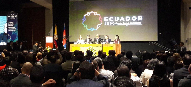 """""""Deberían pensar en exportar el proyecto #Ecuador2030; cuenten con el Gobierno Nacional para ello"""", @Lenin Moreno https://t.co/79pFzUitGR"""