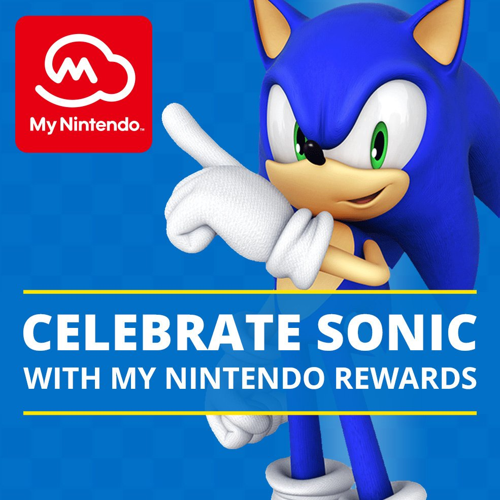 Celebrate the launch of Sonic Forces with Sonic the Hedgehog #MyNintendo rewards! https://t.co/NlmdbqYLad