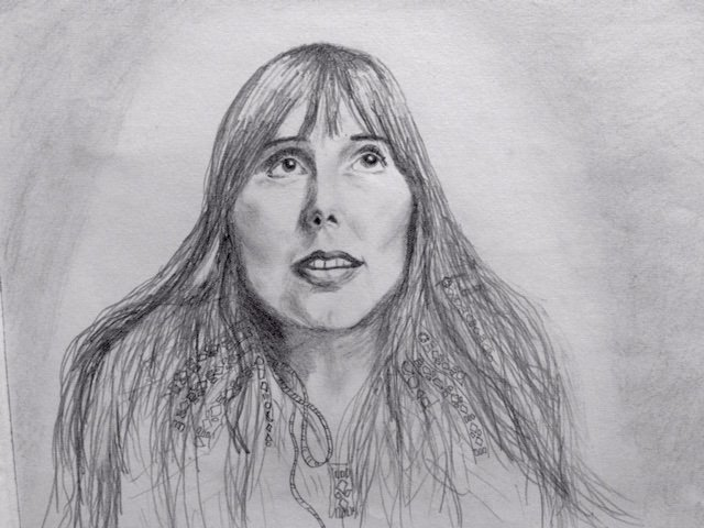 Drawing I did a couple years ago. Happy Birthday Joni Mitchell!