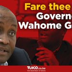 Governor Wahome Gakuru died following a traggic road accident