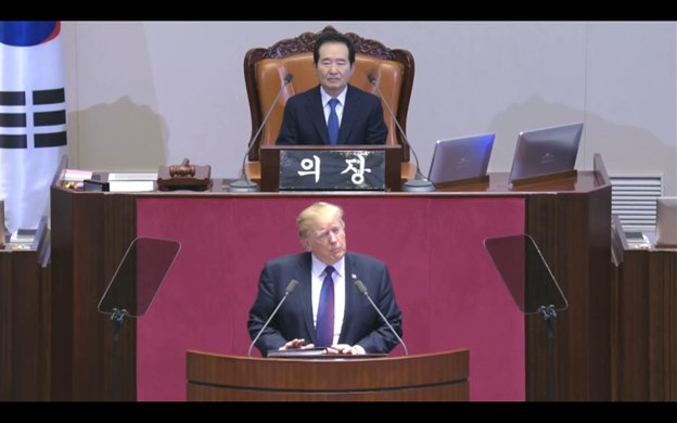 Pres Trump introduced - by way of translator - as 'the leader of the world.' https://t.co/vejZ8LxjyF