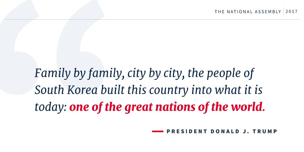 '...the people of South Korea built this country into what it is today...' #POTUSinAsia https://t.co/CfcJ8X0S1G