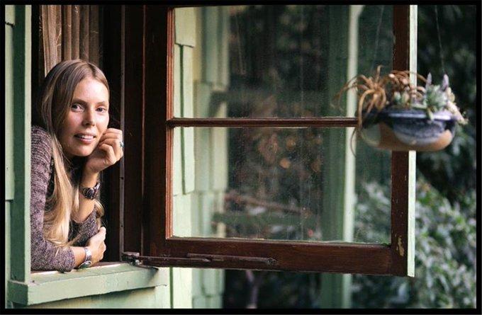 Happy Birthday Joni Mitchell photograph Henry Diltz 1970