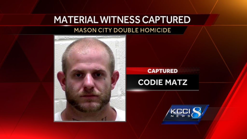 Material witness in double homicide apprehended in Polk County