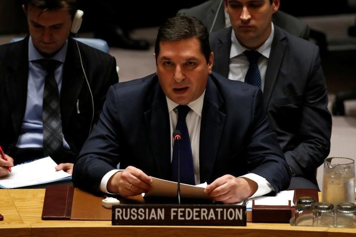 At U.N., Russia slams inquiry into toxic gas attacks in Syria