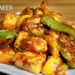 Chili Paneer, Indo Chinese dish, hot and spicy appetizer by Manjula