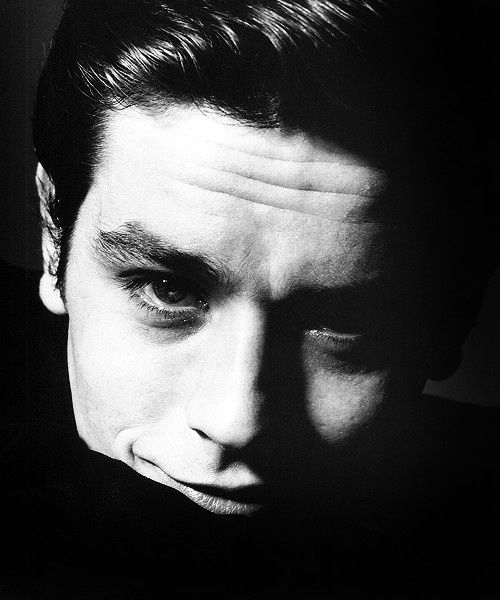 Happy birthday to Alain Delon. Photo by Bert Stern, 1962.