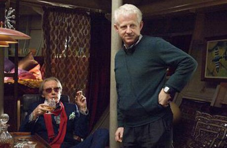 Happy birthday Richard Curtis With Bill Nighy on the set of Pirate Radio Universal, 2009