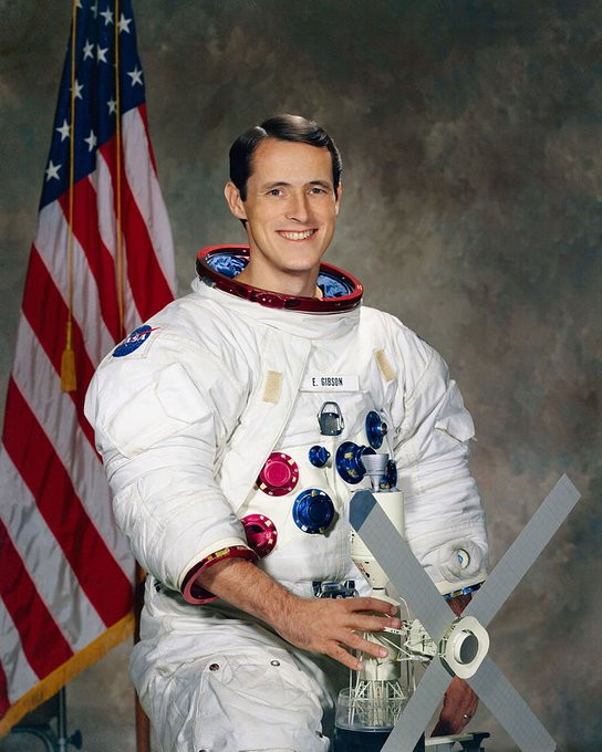 Happy birthday, Edward Gibson! A shout out to the Skylab 4 astronaut!