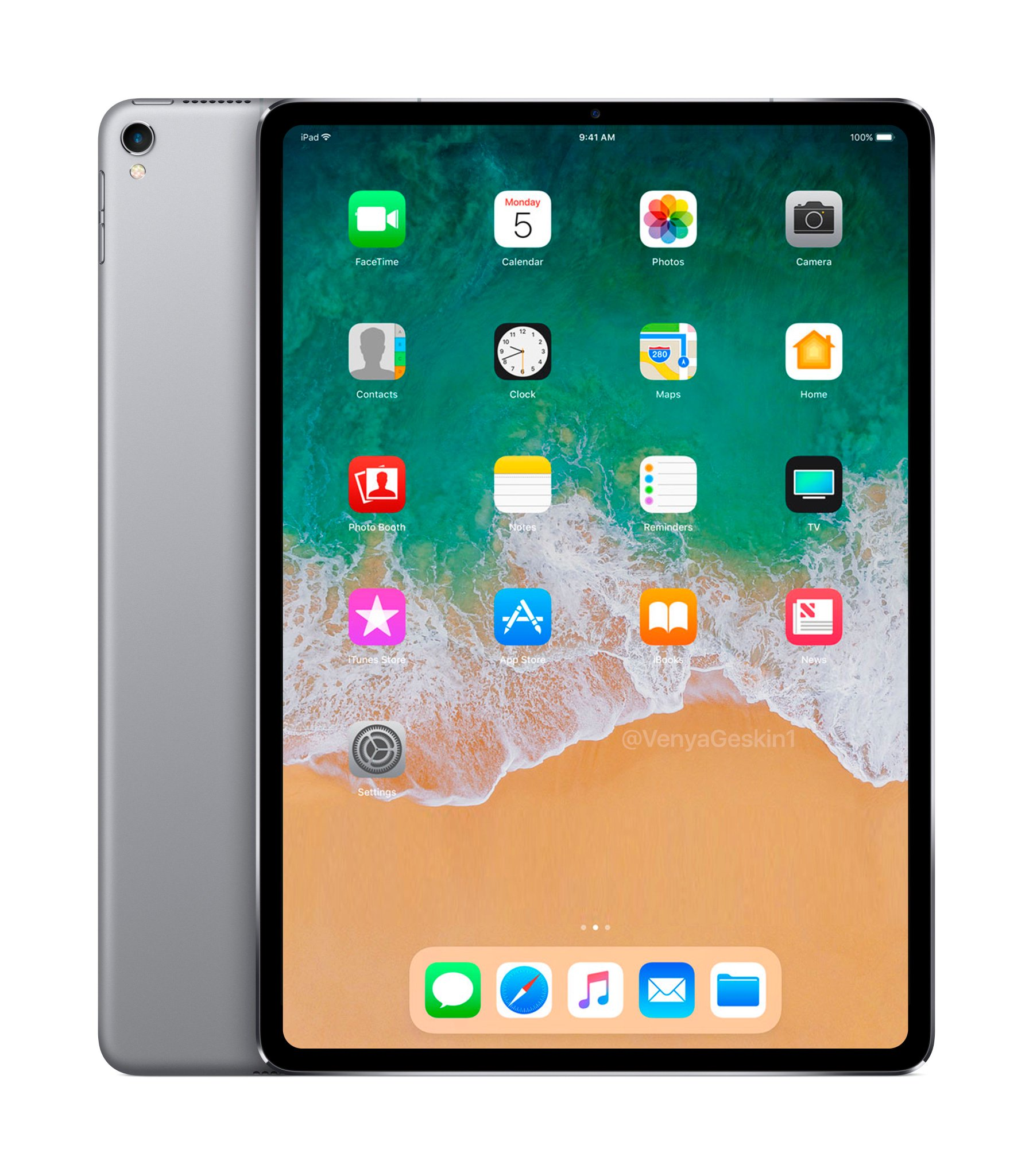 2018 iPad Pro with Face ID | Concept Render https://t.co/TTyMRXPMv1