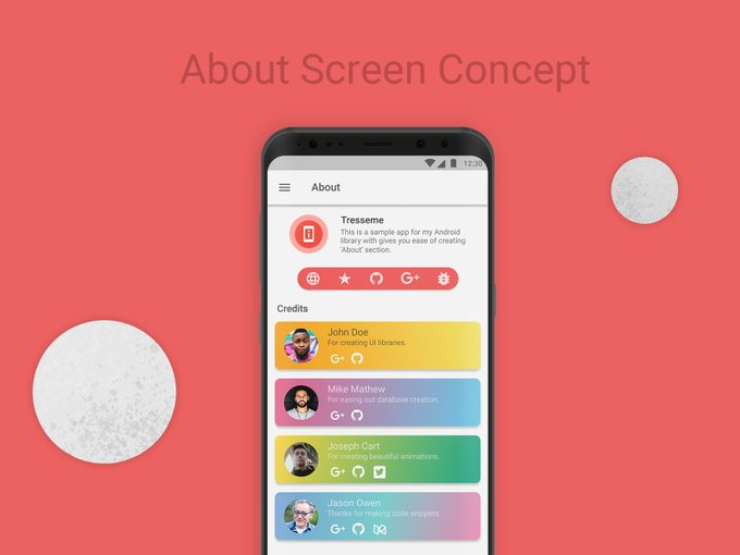 About Screen Concept by imprajeen freebie